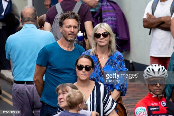 Zoe Ball is seen during the funeral of Dame Vera Lynn on July 10, 2020 in Ditchling, England. Singer Dame Vera Lynn died on 18 June 2020 at her home...