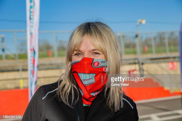 Zoe Ball joined Billy Monger to show her support ahead of him, cycling and walking 41 miles around the Indy Circuit at Brands Hatch, on the February...