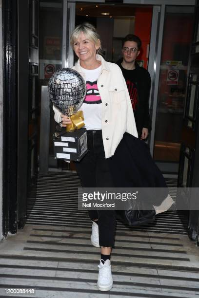 Zoe Ball seen leaving BBC Radio 2 on January 17, 2020 in London, England.