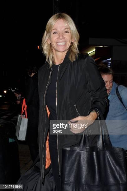 Zoe Ball seen leaving Hospital Studios in Covent Garden on September 28 2018 in London England