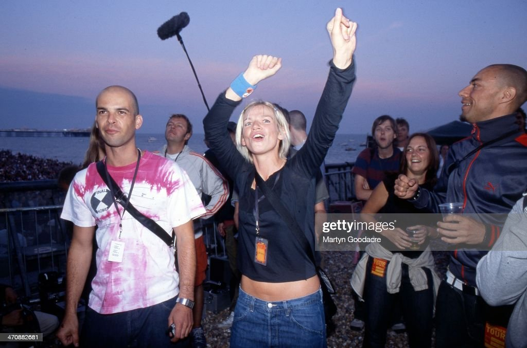 Zoe Ball At Big Beach Boutique 1 Brighton Beach 2002 : News Photo