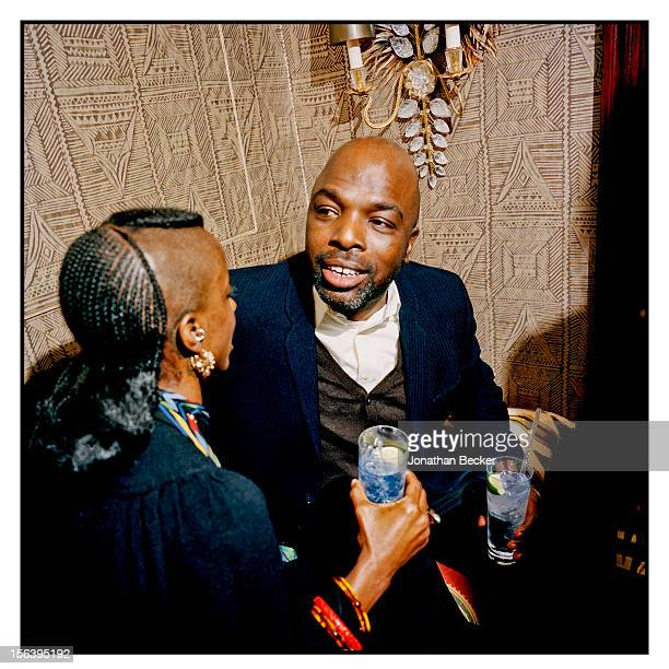 Zoe Bedeaux and Duro Olowu are photographed at 5 Hertford Street, which is home to the nightclub Loulou's for Vanity Fair Magazine on June 11, 2012...