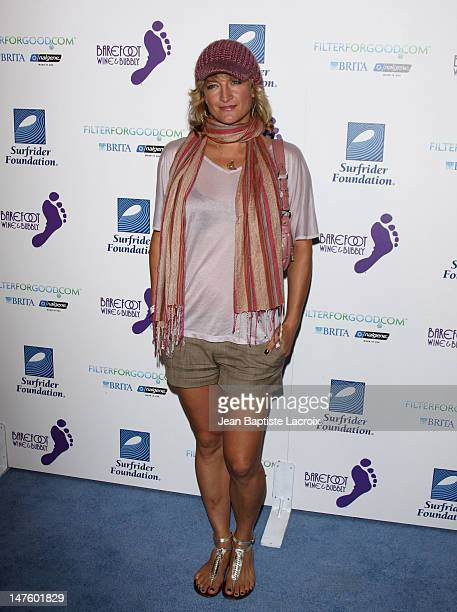 Zoe Bell arrives at The Surfrider Foundation's 25th Anniversary Gala at the California Science Center's Wallis Annenberg Building on October 9 2009...