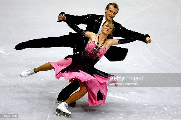 Zoe Blanc and PierreLoup Banquet of France compete in the Compulsory Dance during the CancerNet Skate America at Herb Brooks Arena on November 13...