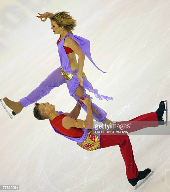 Zoe Blanc and PierreLoup Bouquet of France skate at the ISU Grand Prix of Figure Skating Cup of China 09 November 2007 in Harbin in China's northeast...