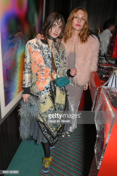 Zoe Bleu Sidel and Josephine de la Baume attend an after party celebrating the FENDI Sloane Street Boutique opening at Isabel on December 14 2017 in...