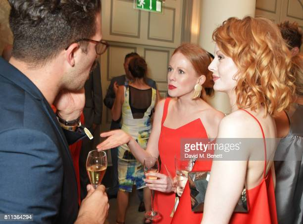 Zoe Boyle and Emily Beecham attend The South Bank Sky Arts Awards drinks reception at The Savoy Hotel on July 9 2017 in London England