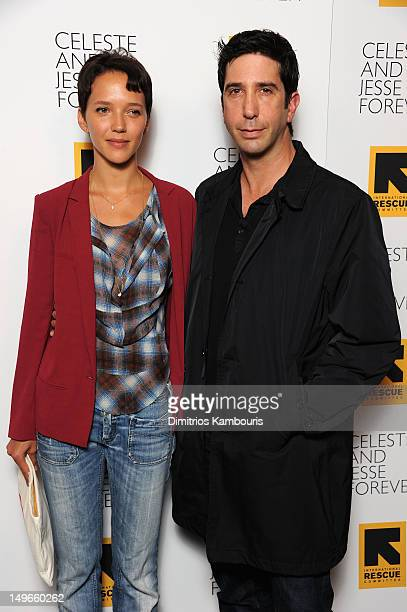 Zoe Buckman and actor David Schwimmer attend the 'Celeste And Jessie' New York Premiere at Sunshine Landmark on August 1 2012 in New York City