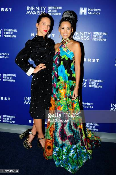 Zoe Buckman and Anya AyoungChee attend International Center of Photography 33rd Annual Infinity Awards at Pier Sixty at Chelsea Piers on April 24...