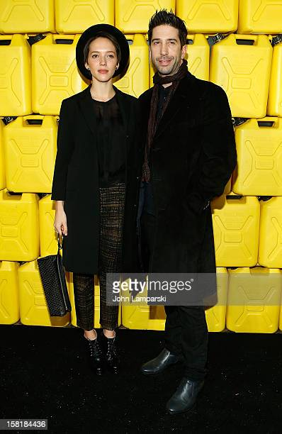 Zoe Buckman and David Schwimmer attend 7th Annual Charity Ball Benefiting CharityWater at the 69th Regiment Armory on December 10 2012 in New York...