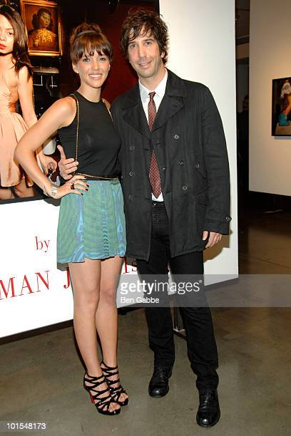 Zoe Buckman and David Schwimmer attend the opening reception for Loos by Zoe Buckman photo exhibition at Milk Studios on June 1 2010 in New York City