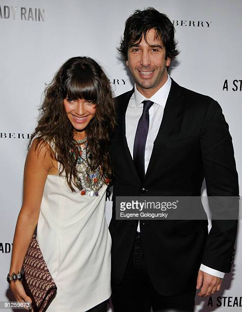 Zoe Buckman and David Schwimmer attends 'A Steady Rain' Broadway opening night at the Gerald Schoenfeld Theatre on September 29 2009 in New York City