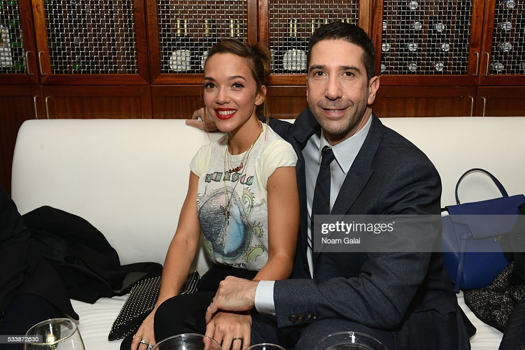 Zoe Buckman and David Schwimmer attends the AMC's Feed The Beast Premiere on May 23, 2016 in New York City.