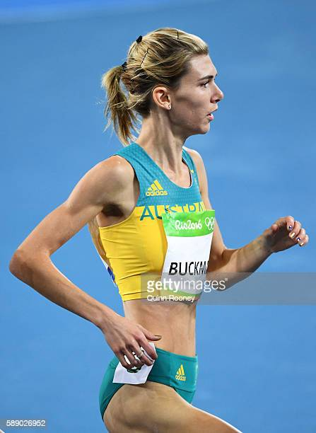Zoe Buckman of Australia competes in round one of the Women's 1500 metres on Day 7 of the Rio 2016 Olympic Games at the Olympic Stadium on August 12...