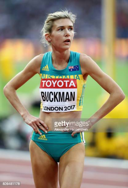Zoe Buckman of Australia looks on after the Women's 1500m 1st round during day one of the 16th IAAF World Athletics Championships London 2017 at The...