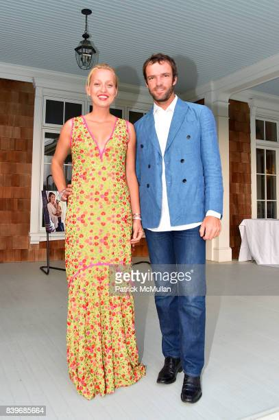 Zoe Bullock and Teymuraz Gabashvili attend Anne Hearst McInerney and Jay McInerney's celebration of Amanda Hearst and Hassan Pierre's Maison de Mode...