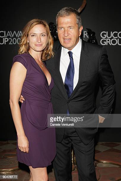 Zoe Cassavetes and Mario Testino attend The Gucci Group Awards at the Palazzo del Cinema during the 66th Venice Film Festival on September 7 2009 in...
