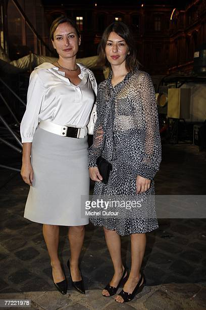 Zoe Cassavetes and Sofia Coppola attends the Louis Vuitton fashion show, during the Spring/Summer 2008 ready-to-wear collection show at Cour carree...