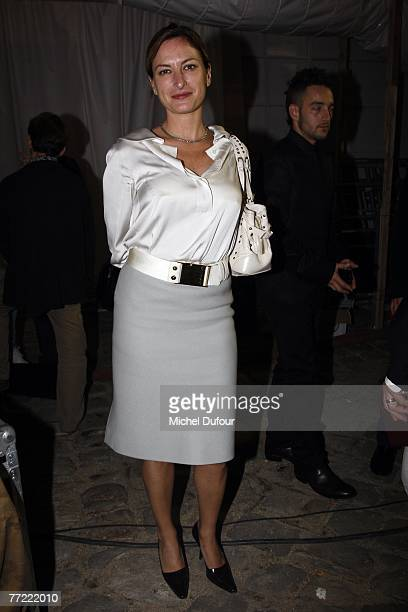 Zoe Cassavetes attends the Louis Vuitton fashion show, during the Spring/Summer 2008 ready-to-wear collection show at Cour carree du Louvre on...
