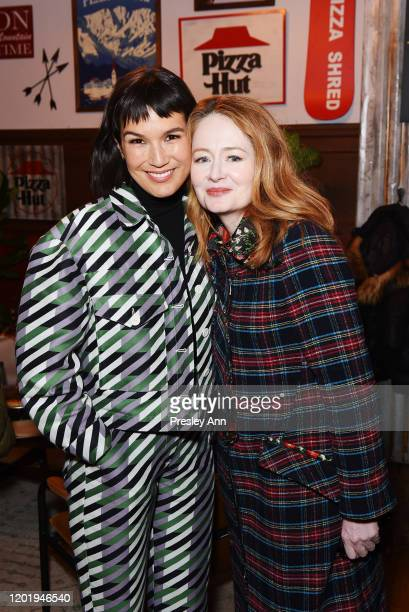Zoe Chao and Miranda Otto of 'Downhill' attend the Pizza Hut x Legion M Lounge during Sundance Film Festival on January 25 2020 in Park City Utah