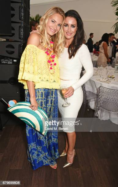 Zoe Cole and Kirsty Gallacher attend the Audi Polo Challenge at Coworth Park on May 6 2017 in Ascot United Kingdom