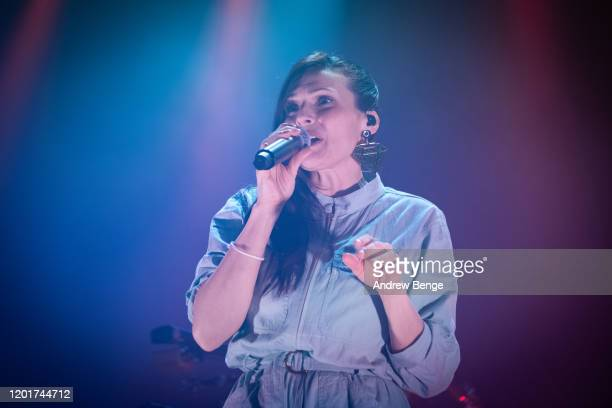 Zoe Colotis of Caravan Palace performs at O2 Academy Leeds on January 24, 2020 in Leeds, England.