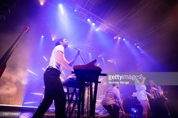 Zoe Colotis of Caravan Palace performs at O2 Academy Leeds on January 24 2020 in Leeds England