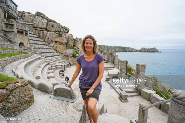Zoe Curnow, Executive Director of the Minack Theatre, poses for the photographer at Porthcurno, on June 26, 2020 in Cornwall, United Kingdom. Actors...