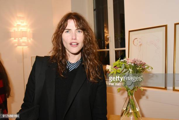 Zoe Duchesne attends Antik Batik Party at Antik Batik Shop Rue des Minimes on January 30 2018 in Paris France