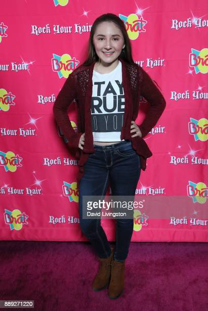 Zoe Etzweiler attends social media influencer Annie LeBlanc's 13th birthday party at Calamigos Beach Club on December 9 2017 in Malibu California