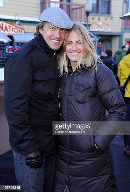 Zoe Farrell and guest attend Day 1 of Village at The Lift 2013 on January 18 2013 in Park City Utah