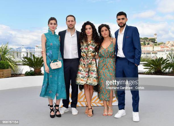 Zoe Fauconnet Maximilien Poullein Sabrina Ouazani Gabrielle Cohen and Soulaymane Rkiba attend Talents Adami 2018 Photocall during the 71st annual...