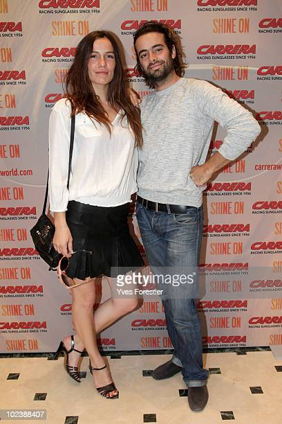 Zoe Felix and a friend attend to the Carrera private party at Shine on Terrace on June 24 2010 in Paris France