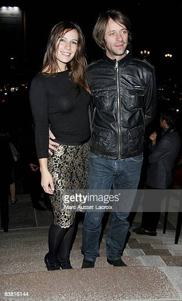 Zoe Felix and Benjamin Rolland arrives at the Patrick Demarchelier's exhibition Party on September 29 2008 in Paris France