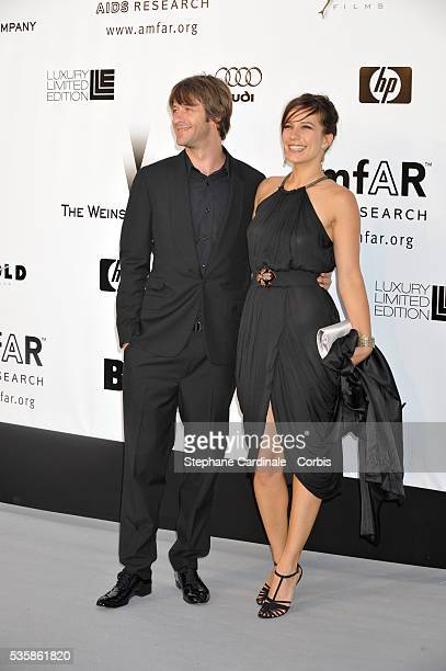 Zoe Felix and Benjamin Rolland at the AMFAR Gala during the 61st Cannes Film Festival