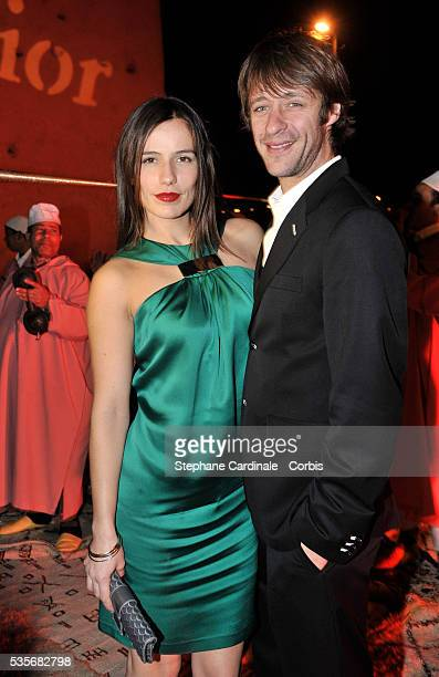 Zoe Felix and Benjamin Rolland at the Dior party during the Marrakech Film Festival