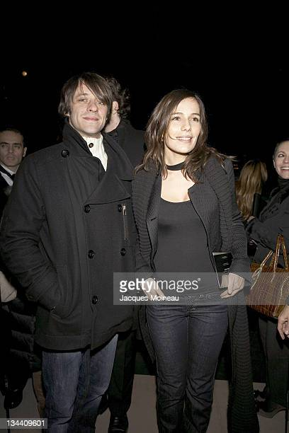 Zoe Felix and Benjamin Rolland during Armani Store Opening Arrivals at Armani Store Opening in Paris France