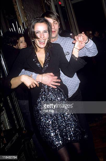 Zoe Felix and Benjamin Rolland during Champagne Ruinart Black and Red St Valentine Party February 1 2006 at Private Hotel Avenue Foch in Paris France