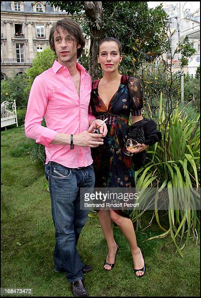 Zoe Felix and friend Benjamin Rolland Kenzo the renewal party organized in the Kenzo store at Place Des Victoires in Paris