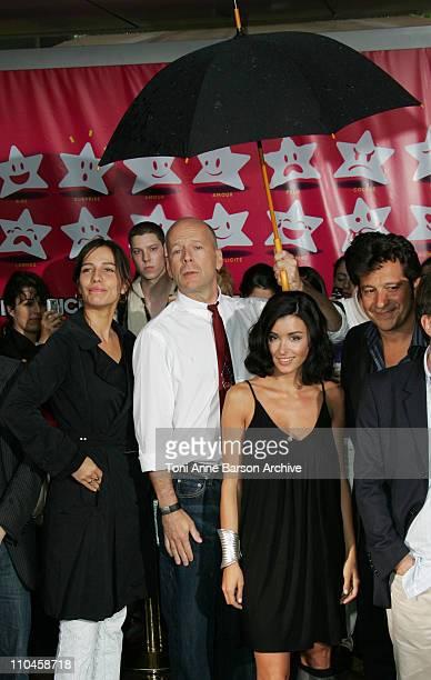 Zoe Felix Bruce Willis Jenifer Bartoli and Laurent Gerra