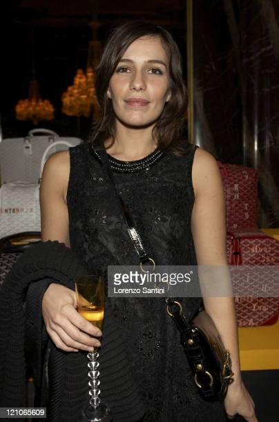Zoe Felix during Auction of Goyard Handbags Designed by Celebrities for the 'Institut Curie' November 28 2006 at Baccarat House in Paris France