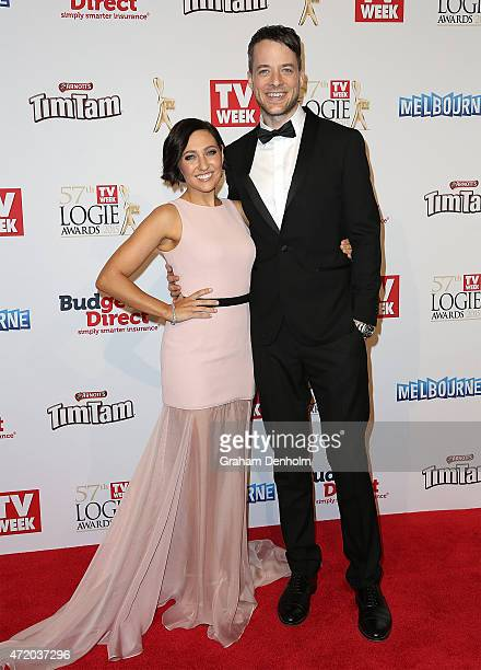 Zoe Foster and Hamish Blake arrives at the 57th Annual Logie Awards at Crown Palladium on May 3 2015 in Melbourne Australia