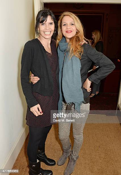 Zoe Grace and Lisa Moorish attend a preview screening of 'Winter' at The Electric Cinema on March 11 2014 in London England