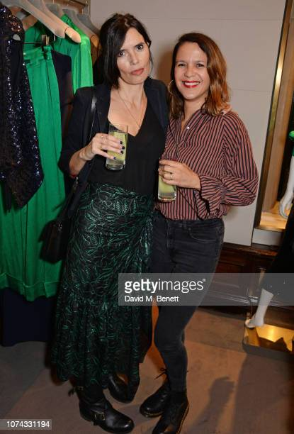 Zoe Grace and Lisa Moorish attend the launch of new book Provoke Attract Seduce by Roland Mouret on December 17 2018 in London England