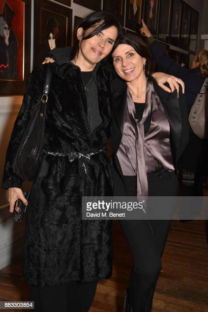 Zoe Grace and Sadie Frost attend a private view of artist Rebecca Leigh's exhibition hosted by Sadie Frost at Tann Rokka on November 30, 2017 in...