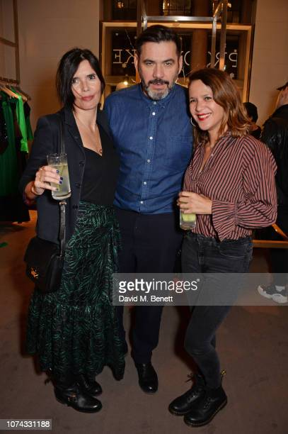 Zoe Grace Roland Mouret and Lisa Moorish attend the launch of new book Provoke Attract Seduce by Roland Mouret on December 17 2018 in London England