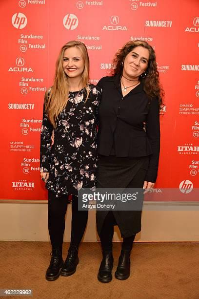 Zoe Guglielmoni and Anna Muylaert attend 'The Second Mother' Premiere 2015 Sundance Film Festival during the 2015 Sundance Film Festival on January...