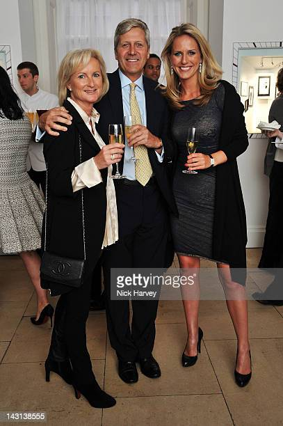 Zoe Hackett David Cotterell and Una Kellyattend the launch party for Cartier Tank Anglaise Watch Collection at The Orangery on April 19 2012 in...