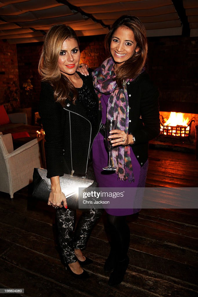 Zoe Hardman and Katy Wickremesinghe attend the Vodafone Fashionable Pub Quiz at Shoreditch House on November 21, 2012 in London, United Kingdom. As Principal Sponsor of London Fashion Week, the quiz celebrated Vodafone's commitment to British Fashion.
