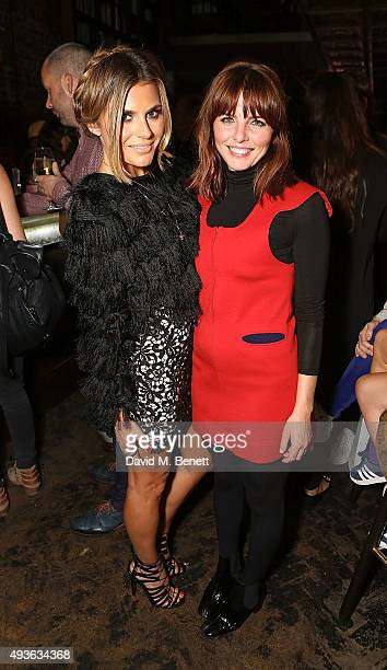 Zoe Hardman and Ophelia Lovibond attend the launch of Caroline Flack's new book Storm In A C Cup at Library on October 21 2015 in London England